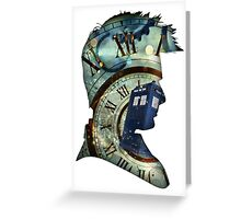Doctor Who - Time spiral & Tennant Greeting Card