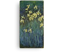 Claude Monet - Yellow Irises (c. 1914 - c. 1917) Canvas Print