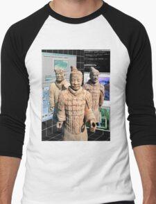 Chinese Vaporwave Aesthetics Men's Baseball ¾ T-Shirt