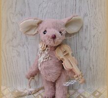 Handmade bears from Teddy Bear Orphans - Marta Mouse by Penny Bonser