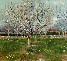 Vincent Van Gogh - Orchard in Blossom Plum Trees by lifetree