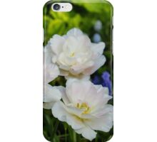 Soft White and Baby Pink Tulip Quartet - Enjoying the Beauty of Spring iPhone Case/Skin
