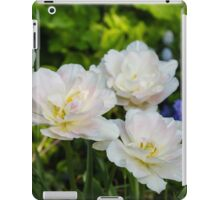 Soft White and Baby Pink Tulip Quartet - Enjoying the Beauty of Spring iPad Case/Skin