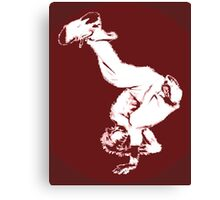 Breakdancer in red Canvas Print