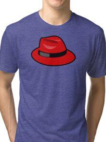 Red fedora - Where is Carmen? Tri-blend T-Shirt