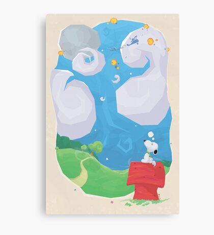 A dog's imagination (30 left) Canvas Print