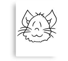 face head sweet cute kitten fluffy fur Canvas Print