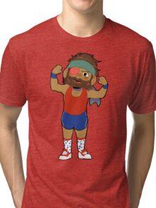 Work out Big Boss! Tri-blend T-Shirt