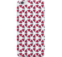 Pattern 67: Red love hearts on a white background iPhone Case/Skin