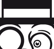 face head sir mr mustache monocle glasses cylinder hat kitten gentlemen sweet cute cat Sticker