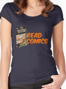 Read Comics Women's Fitted Scoop T-Shirt