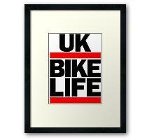 Run UK Bike Life DMC Style Moped Bikelife Motorcycle Gang Red & Black Logo Framed Print