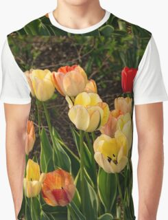 Multicolor Tulip Garden - Enjoying the Beauty of Spring Graphic T-Shirt