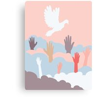 Dove and Hands 4 Canvas Print