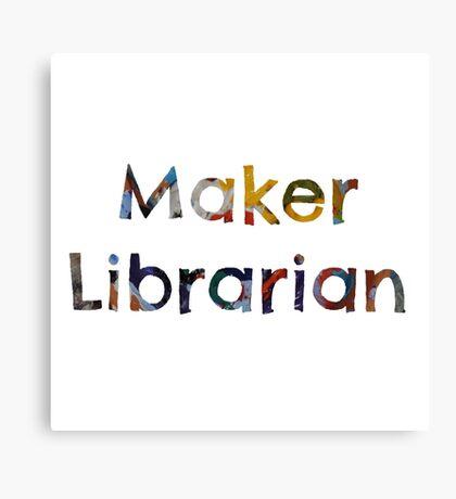 Maker Librarian Canvas Print