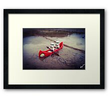 Chillin' on the water Framed Print