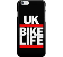 Run UK Bike Life DMC Style Moped Bikelife Motorcycle Gang Red & White Logo iPhone Case/Skin
