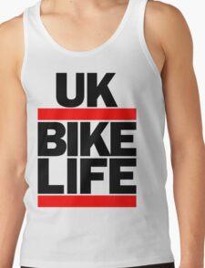 Run UK Bike Life DMC Style Moped Bikelife Motorcycle Gang Red & Black Logo Tank Top