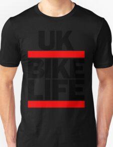 Run UK Bike Life DMC Style Moped Bikelife Motorcycle Gang Red & Black Logo Unisex T-Shirt
