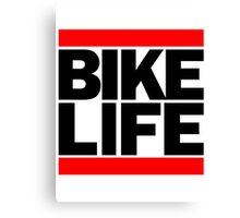 Run Bike Life DMC Style Moped Bikelife Motorcycle Gang Red & Black Logo Canvas Print