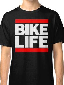 Run Bike Life DMC Style Moped Bikelife Motorcycle Gang Red & White Logo Classic T-Shirt