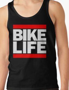 Run Bike Life DMC Style Moped Bikelife Motorcycle Gang Red & White Logo Tank Top
