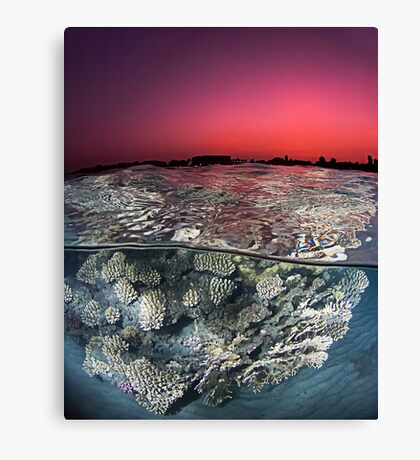 Sunset Over the Red Sea Reef Canvas Print