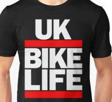 Run UK Bike Life DMC Style Moped Bikelife Motorcycle Gang Red & White Logo Unisex T-Shirt