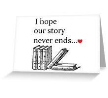 Story Valentine Greeting Card