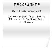 Programmer Black Poster