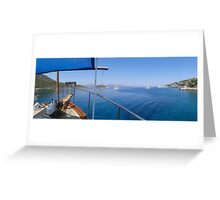 The Bow Of A Boat and Marmaris Bay Greeting Card