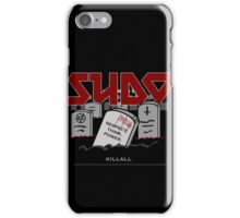 SUDO - Heavy Metal Sysadmin iPhone Case/Skin
