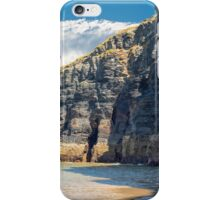 cliffs on the wild atlantic way at low tide iPhone Case/Skin