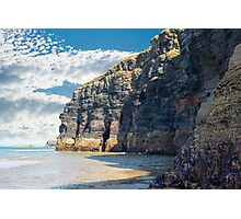 cliffs on the wild atlantic way at low tide Photographic Print