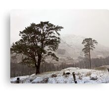 Snow Scene on Glencoe #2 Metal Print