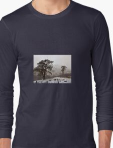 Snow Scene on Glencoe #2 Long Sleeve T-Shirt