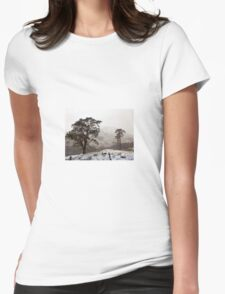 Snow Scene on Glencoe #2 Womens Fitted T-Shirt
