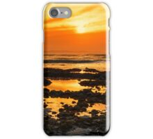 deep orange reflections at rocky beal beach iPhone Case/Skin