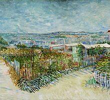 Vincent Van Gogh - Montmartre Behind the Moulin de la Galette by lifetree