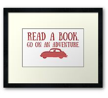 Read a Book Framed Print