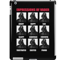 Expressions of vader iPad Case/Skin