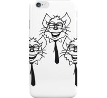 face head nerd geek hornbrille tie clever funny team 3 friends group pattern iPhone Case/Skin
