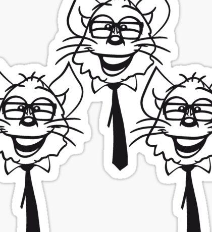 face head nerd geek hornbrille tie clever funny team 3 friends group pattern Sticker
