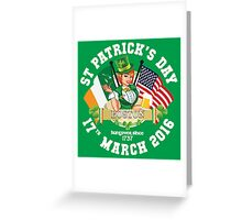 St Patricks Day Celebrations - City Of Boston Greeting Card
