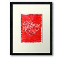Valentine's Day - Love Heart Framed Print