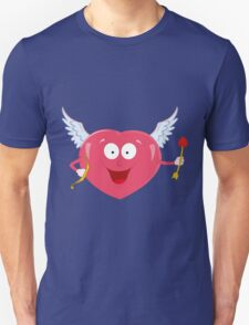 valentine heart with cupid bow T-Shirt