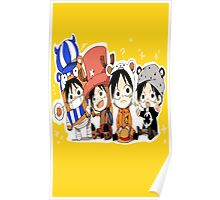One Piece Luffy Chibi Poster