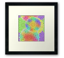 Bright pattern with mandala Framed Print