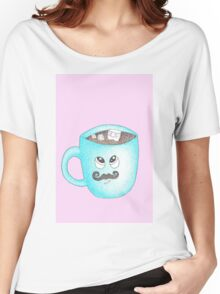 Candy Land Project - #5 Hot Chocolate with mustache Women's Relaxed Fit T-Shirt