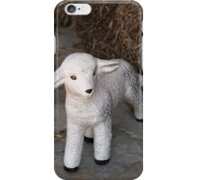 Easter little lamb iPhone Case/Skin